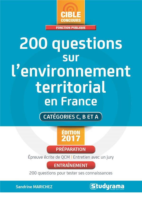 200 QUESTIONS SUR L'ENVIRONNEMENT TERRITORIAL EN FRANCE