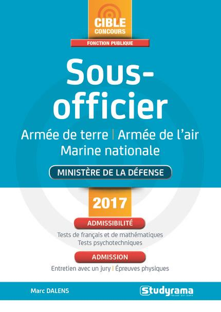 SOUS-OFFICIER MINISTERE DE LA DEFENSE 2017/2018
