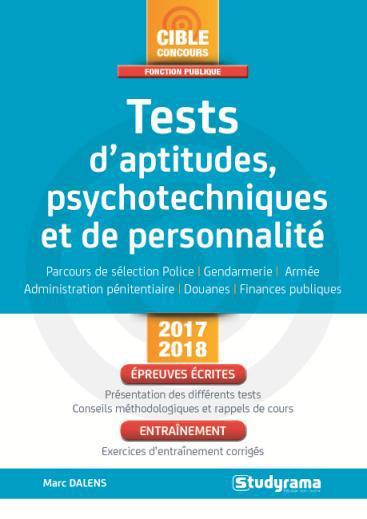 TESTS D'APTITUDES PSYCHOTECHNIQUES ET DE PERSONNALITE