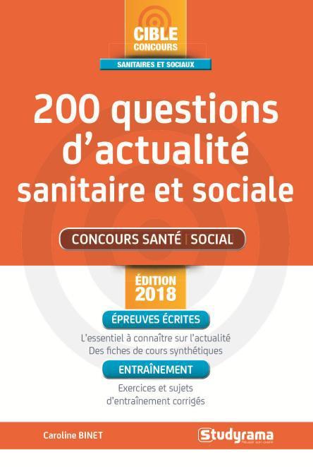 200 QUESTIONS D'ACTUALITE SANITAIRE ET SOCIALE