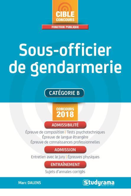 SOUS-OFFICIER DE GENDARMERIE CONCOURS 2018