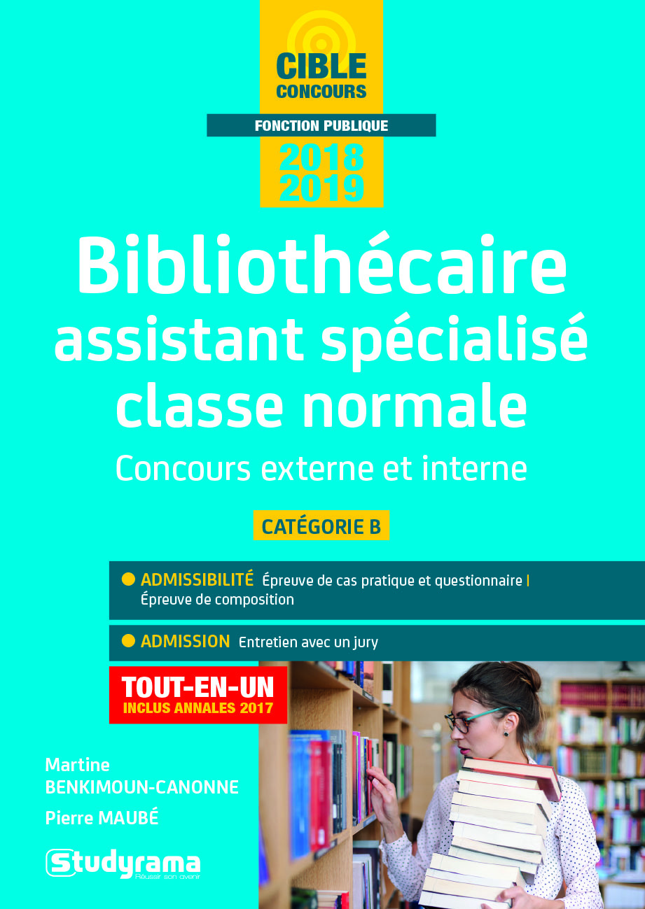 BIBLIOTHECAIRE ASSISTANT SPECIALISE CLASSE NORMALE