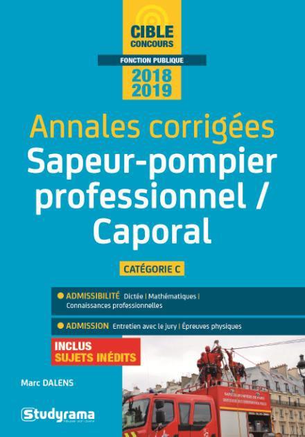 ANNALES CORRIGEES CAPORAL DE SAPEURS-POMPIERS PROFESSIONNEL