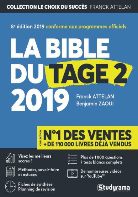 BIBLE DU TAGE 2 2019 (LA) 8ED