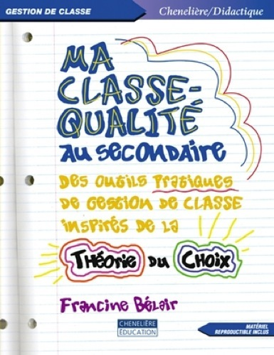 MA CLASSE QUALITE AU SECONDAIRE