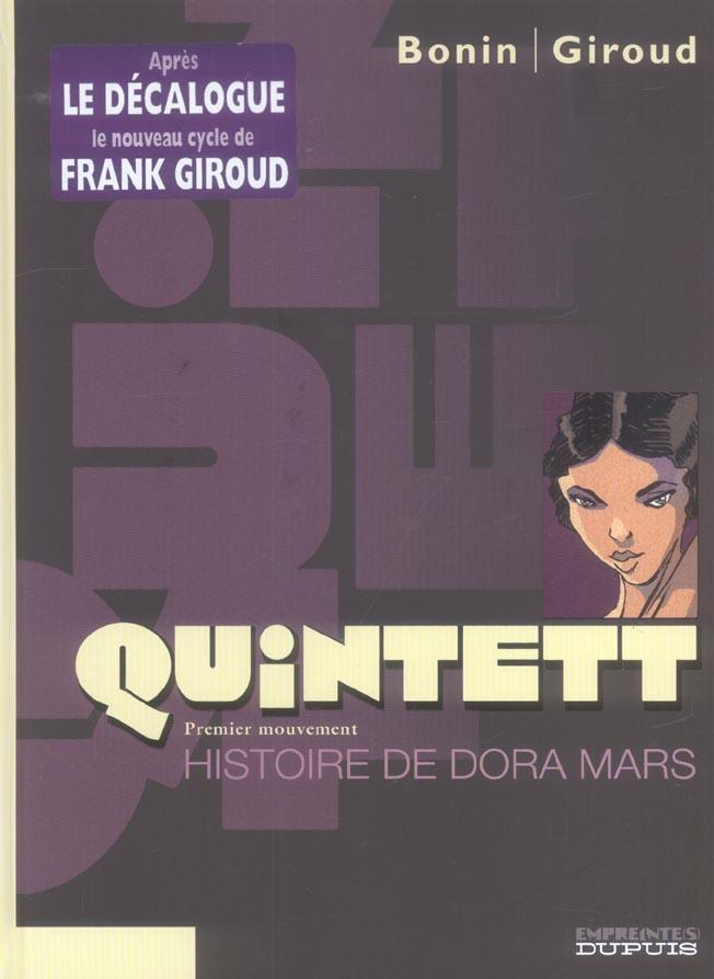 QUINTETT T1 HISTOIRE DE DORA MARS 1