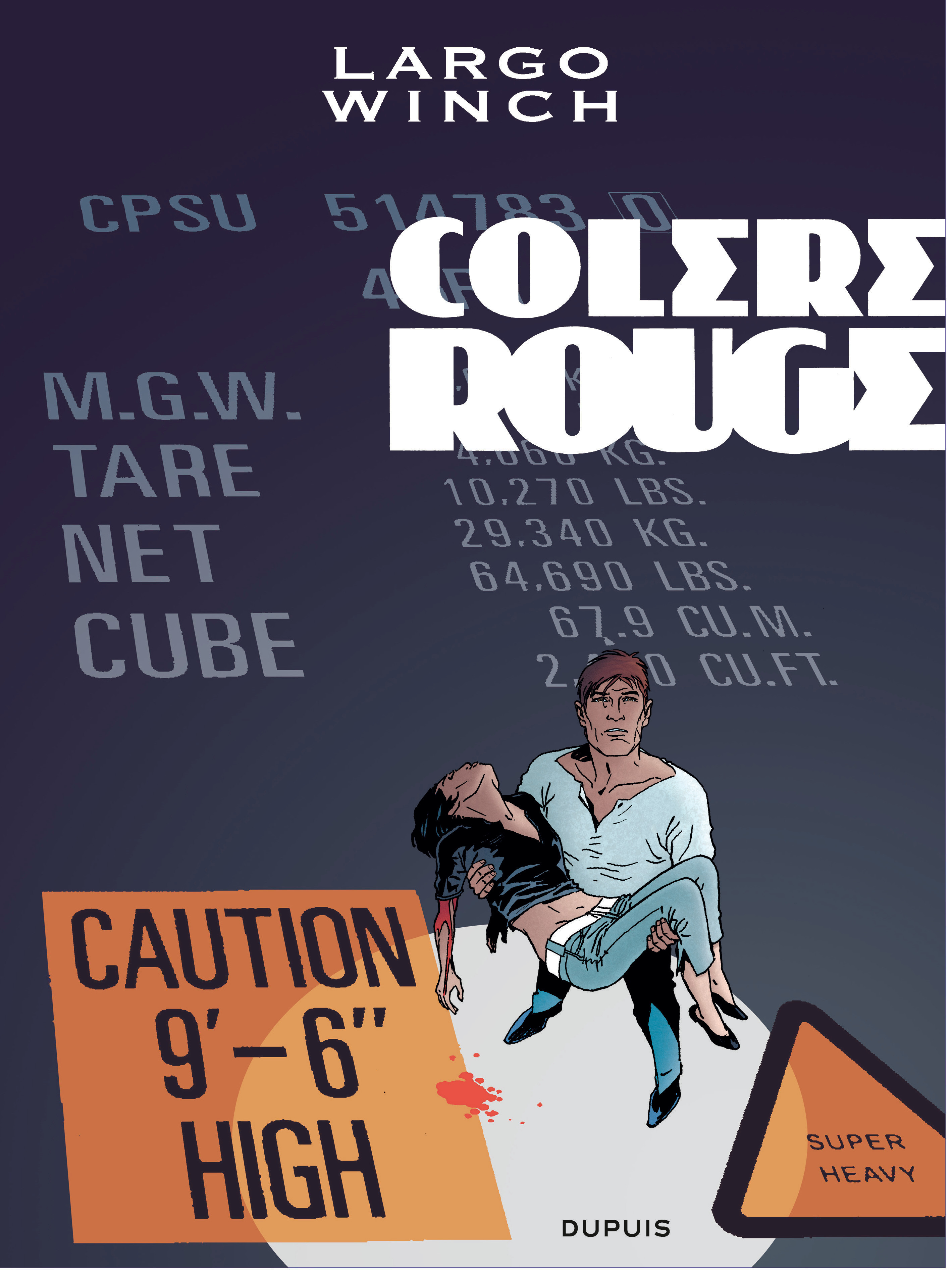 LARGO WINCH - T18 - COLERE ROUGE GRAND FORMAT