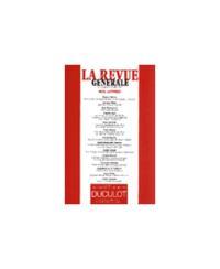 REVUE GENERALE 1999/6-7 NOS LETTRES