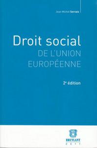 DROIT SOCIAL DE L'UNION EUROPEENNE - 2EME EDITION