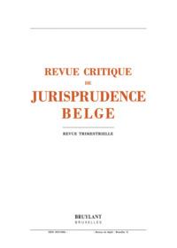 REV.CRIT.JURISP.BELGE 2013/3