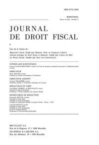 JOURNAL DE DROIT FISCAL 2014/5-6