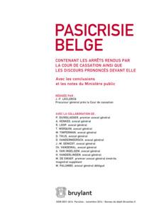 PASICRISIE BELGE 2014/4