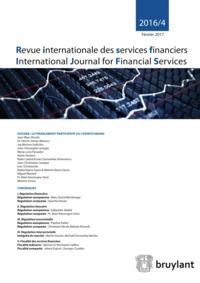 REVUE INTERNATIONALE DES SERVICES FINANCIERS 2016/4