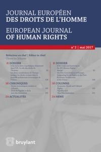 JOURNAL EUROPEEN DES DROITS DE L'HOMME 2017/2