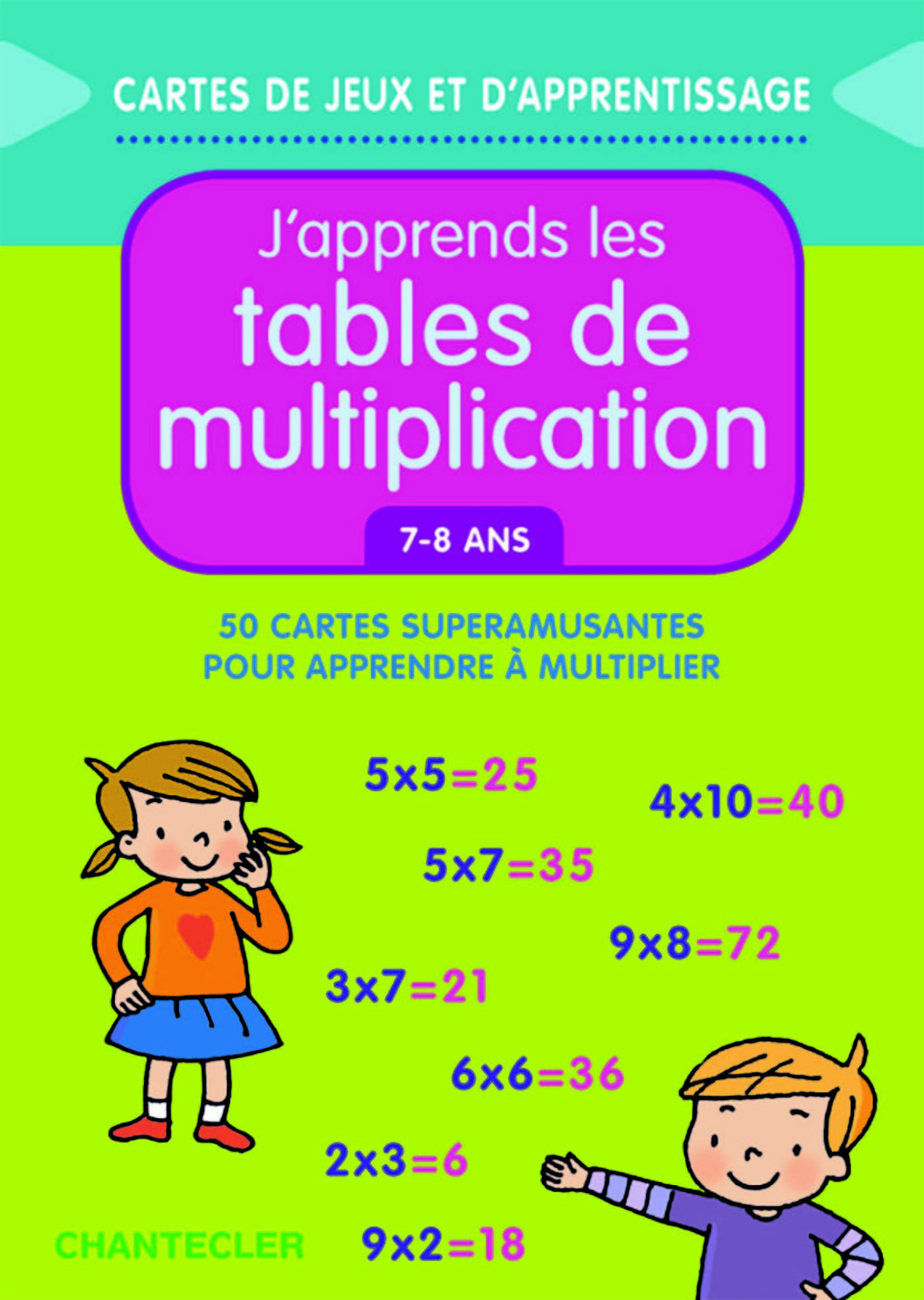 J'APPRENDS LES TABLES DE MULTIPLICATION (7-8 ANS)