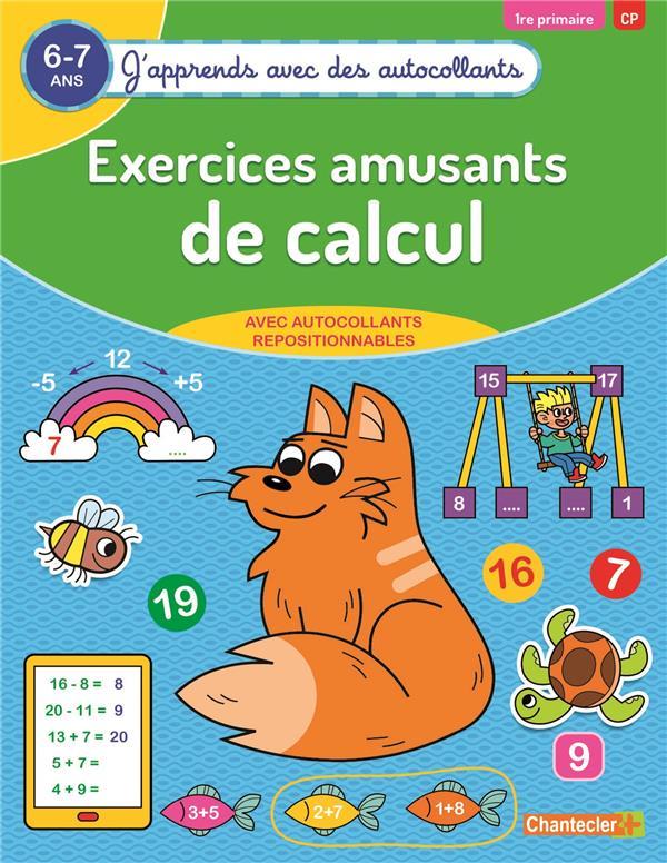 J'APPRENDS AVEC DES AUTOCOLLANTS - EXERCICES AMUSANTS DE CALCUL (6-7 A.)