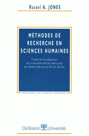 METHODES DE RECHERCHE EN SCIENCES HUMAINES
