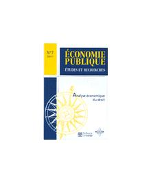 ANALYSE ECONOMIQUE DU DROIT - ECONOMIE PUBLIQUE 01/1