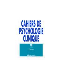CAHIERS DE PSYCHOLOGIE CLINIQUE 2002/2 N.19