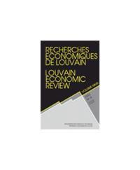 RECHERCHES ECONOMIQUES DE LOUVAIN 2002/4 VOLUME 68