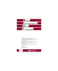 REVUE INTERNATIONALE DE DROIT ECONOMIQUE 2002/4