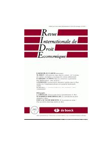 REVUE INTERNATIONALE DE DROIT ECONOMIQUE 2003/1