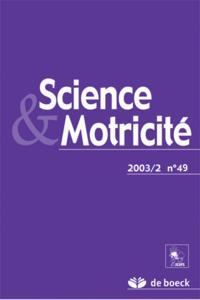SCIENCE ET MOTRICITE 2003/2 N.49