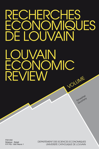 RECHERCHES ECONOMIQUES DE LOUVAIN 2004/3 VOLUME 70