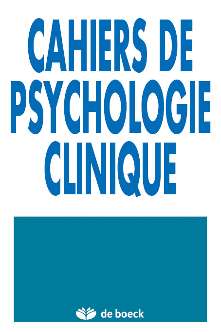 CAHIERS DE PSYCHOLOGIE CLINIQUE 2004/1 N.22