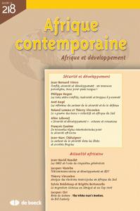 AFRIQUE CONTEMPORAINE 2006/2 N.218