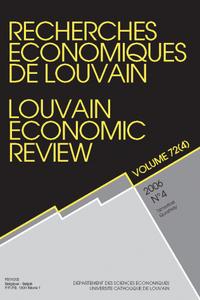 RECHERCHES ECONOMIQUES DE LOUVAIN 2006/4 VOLUME 72