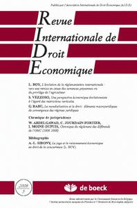 REVUE INTERNATIONALE DE DROIT ECONOMIQUE 2008/3