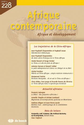 AFRIQUE CONTEMPORAINE 2008/4 N.228