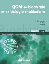 QCM DE BIOCHIMIE ET BIOLOGIE MOLECULAIRE