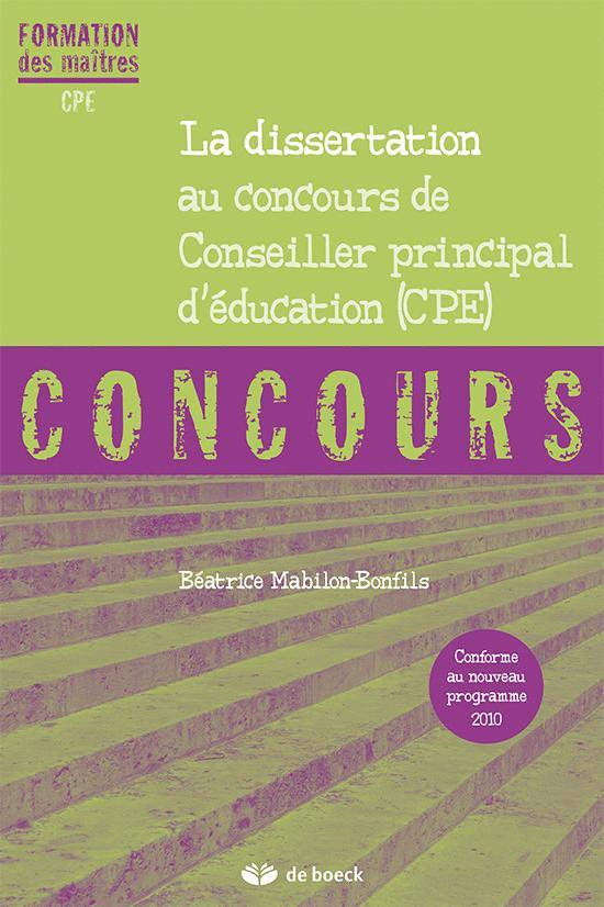 DISSERTATION AU CONCOURS DE CPE (LA)
