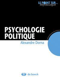 PSYCHOLOGIE POLITIQUE (LA)