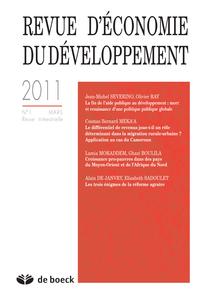 REVUE D'ECONOMIE DU DEVELOPPEMENT 2011/1