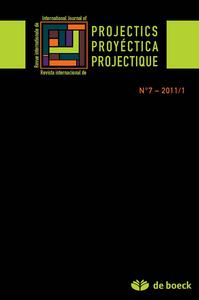 REVUE INTERNATIONALE DE PROJECTIQUE 2011/1 N.7