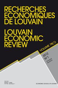 RECHERCHES ECONOMIQUES DE LOUVAIN 2012/1 VOLUME 78