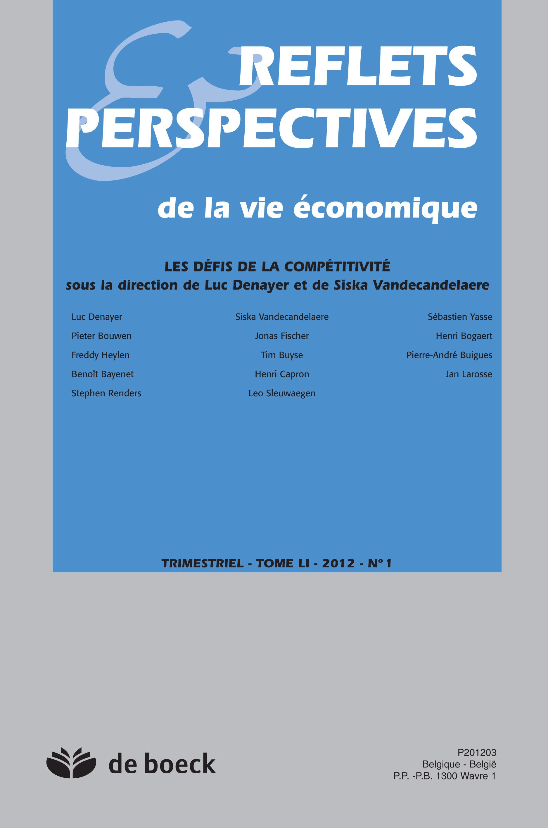 REFLETS ET PERSPECTIVES DES LA VIE ECONOMIQUE 2012/1