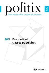 POLITIX 2013/1 N.101 PROPRIETES ET CLASSES POPULAIRES