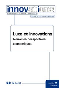 CAHIERS D'ECONOMIE DE L'INNOVATION 2013/2 N.41