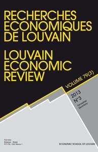 RECHERCHES ECONOMIQUES DE LOUVAIN 2013/3 VOLUME 79