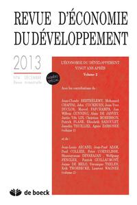 REVUE D'ECONOMIE DU DEVELOPPEMENT 2013/4