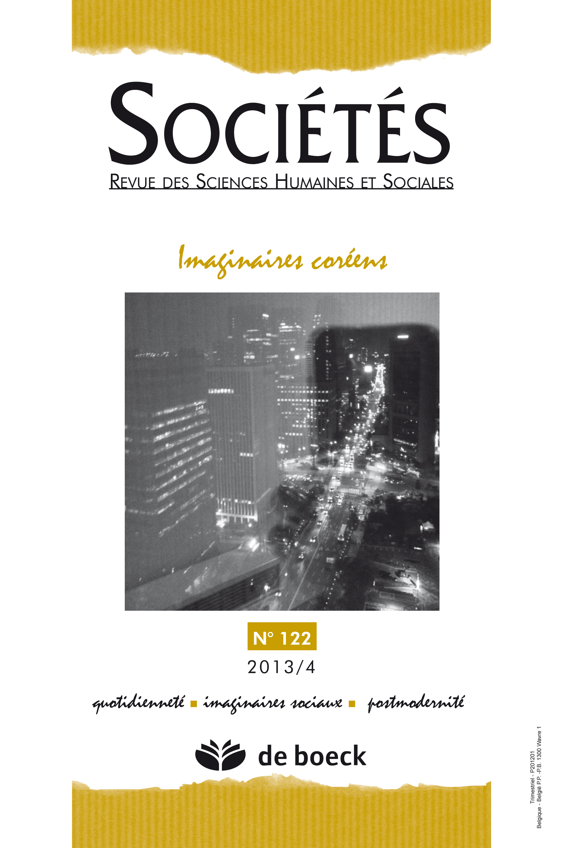 SOCIETES 2013/4 N.122 IMAGINAIRES COREENS