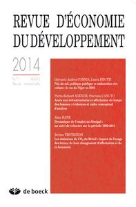 REVUE D'ECONOMIE DU DEVELOPPEMENT 2014/1
