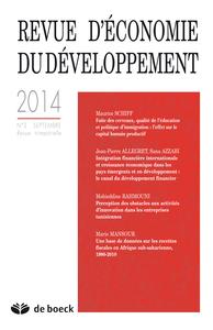 REVUE D'ECONOMIE DU DEVELOPPEMENT 2014/3
