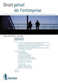 DROIT PENAL DE L'ENTREPRISE 2010/2