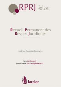 RECUEIL PERMANENT REVUES JURIDIQUES 2012/2 JURISPRUDENCE 2012