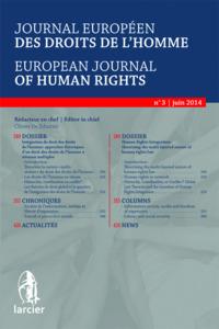 JOURNAL EU. DR. DE L'HOMME 2014/3